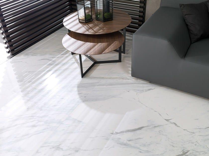 Porcelain stoneware flooring with marble effect MARBLE - URBATEK