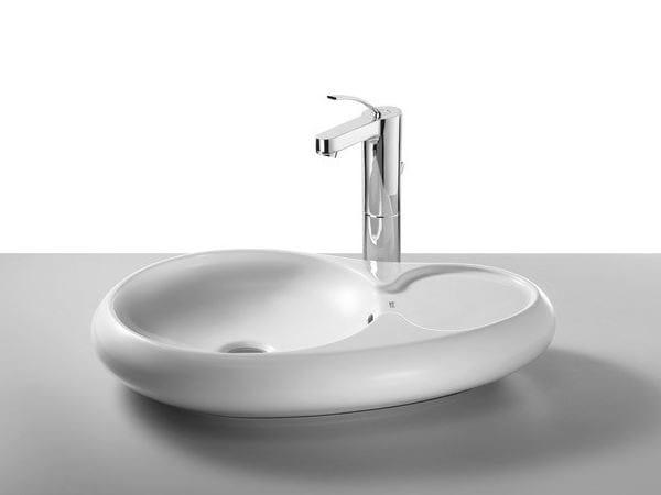 Countertop washbasin URBI 7 - ROCA SANITARIO