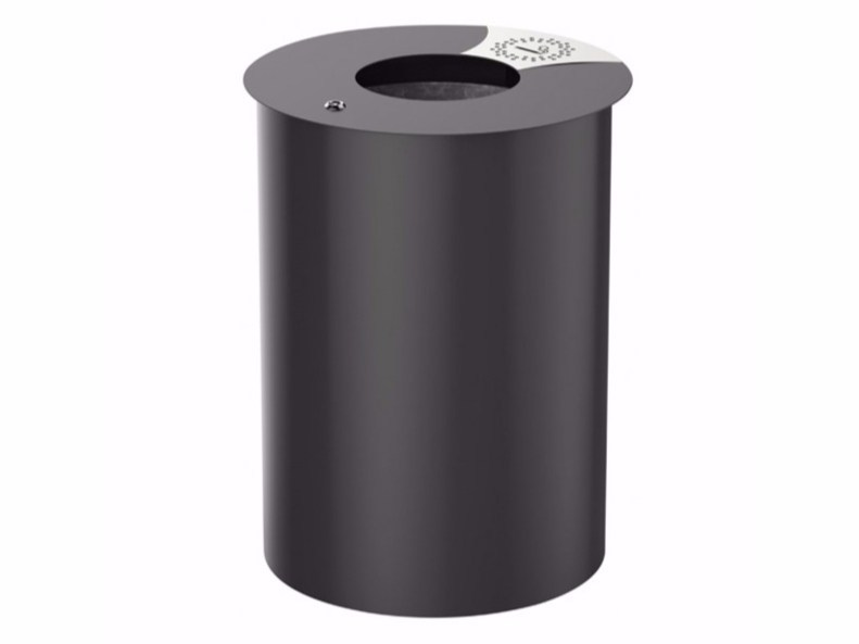 Outdoor aluminium waste bin with ashtray URBIS - Lazzari