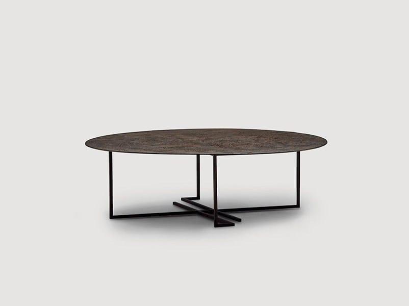 Tavolino basso da caffè rotondo in metallo URUSHI   Tavolino basso by da a