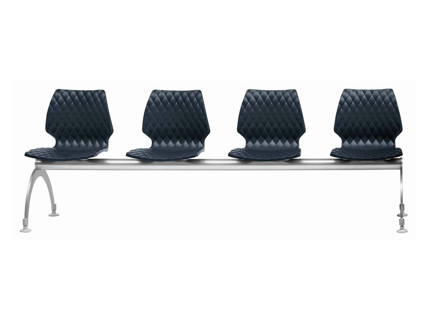 Polypropylene beam seating Uni 223 - Metalmobil