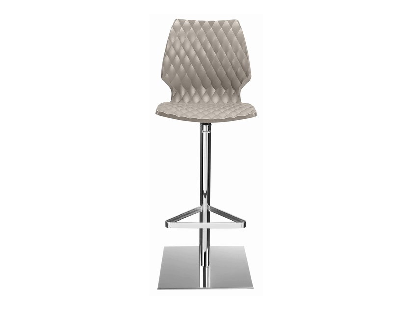 Swivel plastic barstool with footrest Uni 380 - Metalmobil