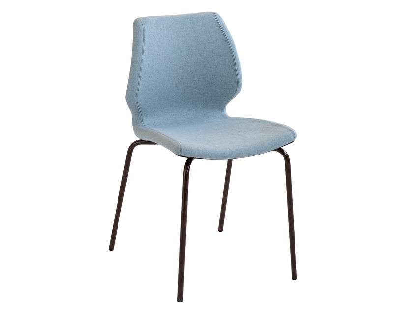 Upholstered polypropylene chair Uni 550M by Metalmobil