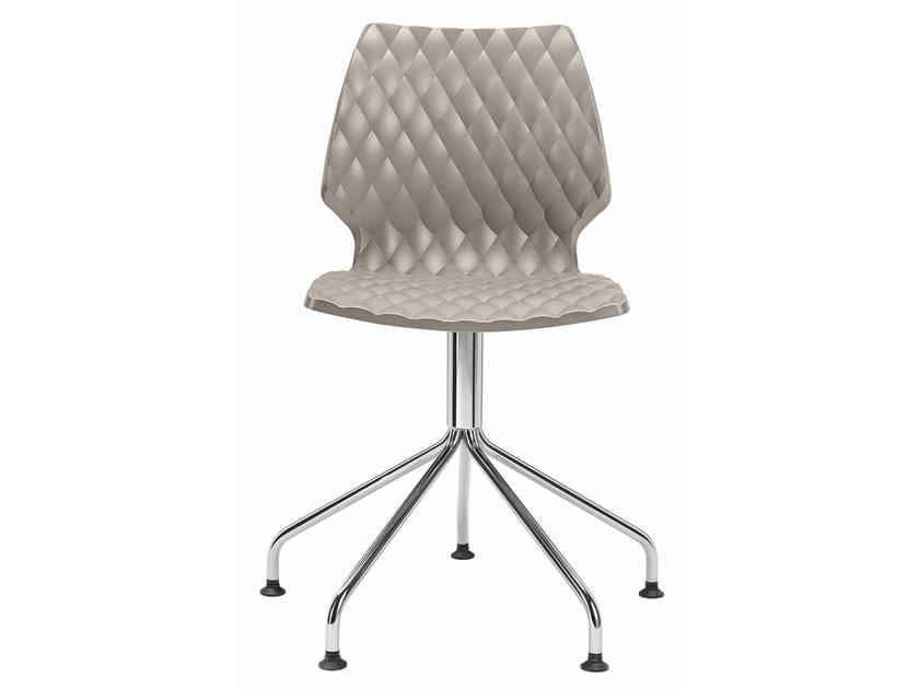 Swivel polypropylene chair with 5-spoke base Uni 558-5P - Metalmobil