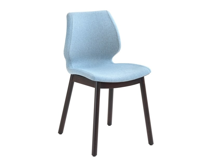 Upholstered polypropylene chair Uni 577M by Metalmobil