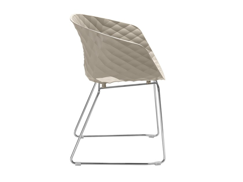 Sled base polypropylene restaurant chair Uni-Ka 595 by Metalmobil