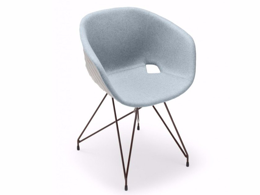 Polypropylene easy chair Uni-Ka 596M - Metalmobil