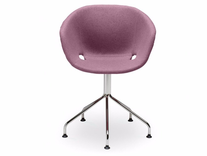 Swivel upholstered polypropylene easy chair Uni-Ka 597M-5P - Metalmobil