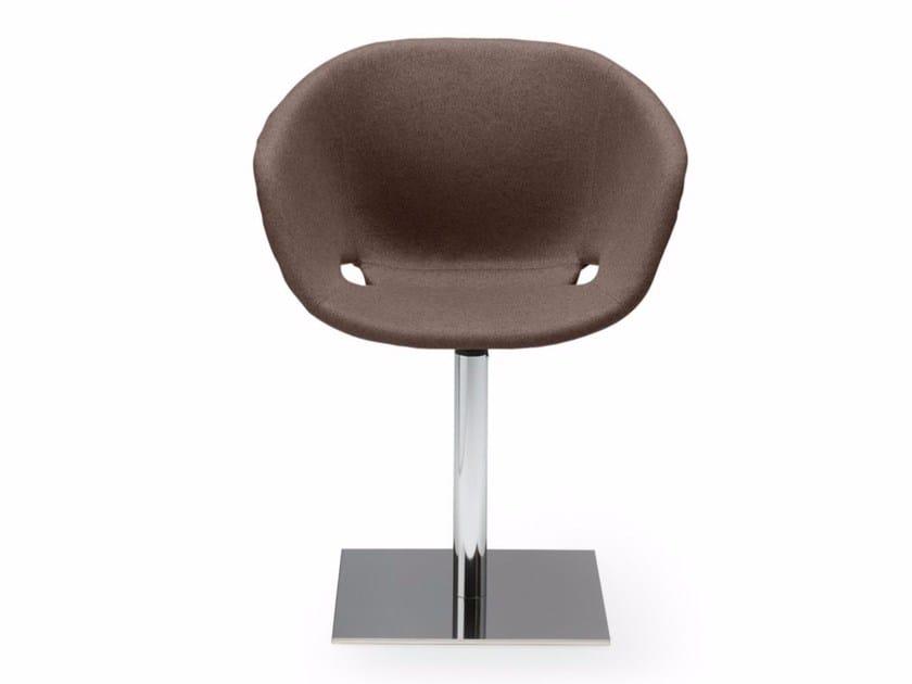 Swivel upholstered polypropylene easy chair Uni-Ka 598M - Metalmobil