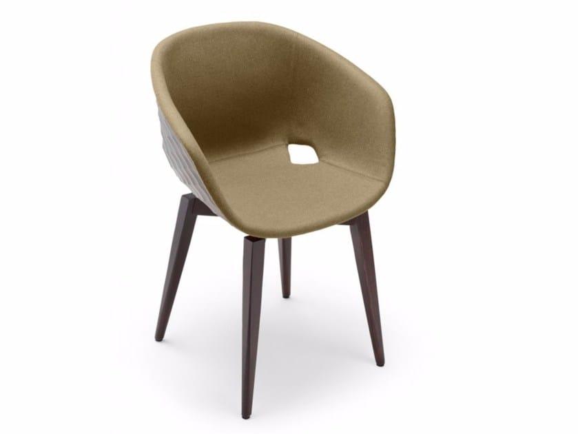 Upholstered polypropylene easy chair Uni-Ka 599M - Metalmobil