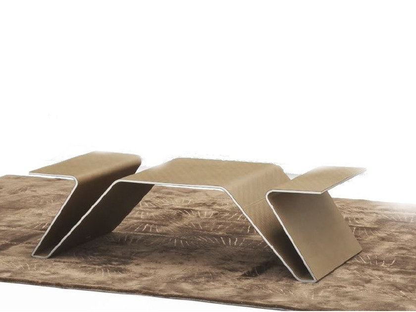 Aluminium coffee table with integrated magazine rack for living room V005 | Coffee table - Aston Martin