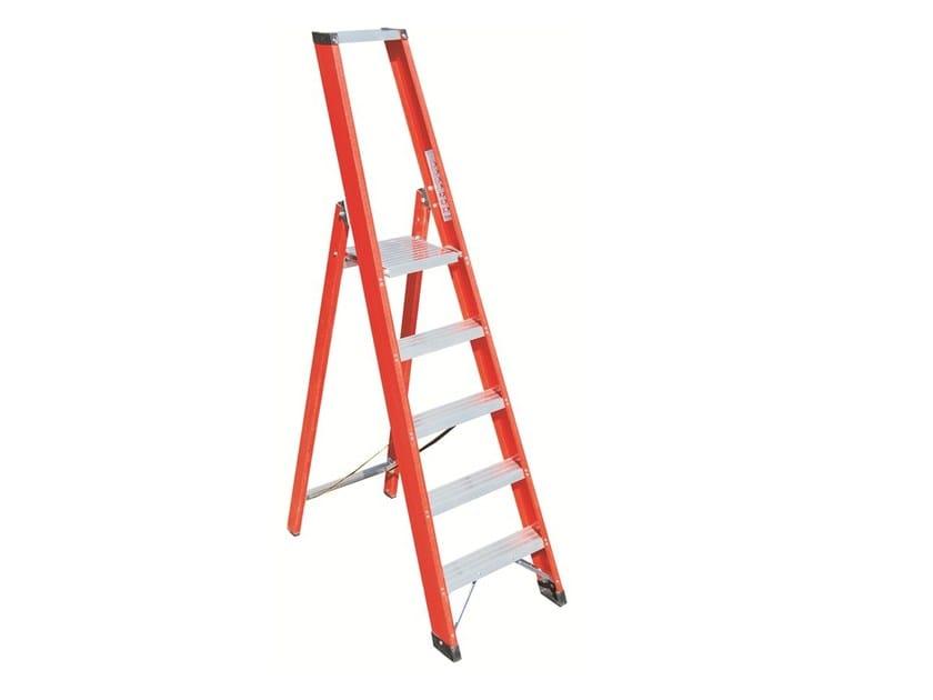 Trestle ladder with large platform V026 - Frigerio Carpenterie