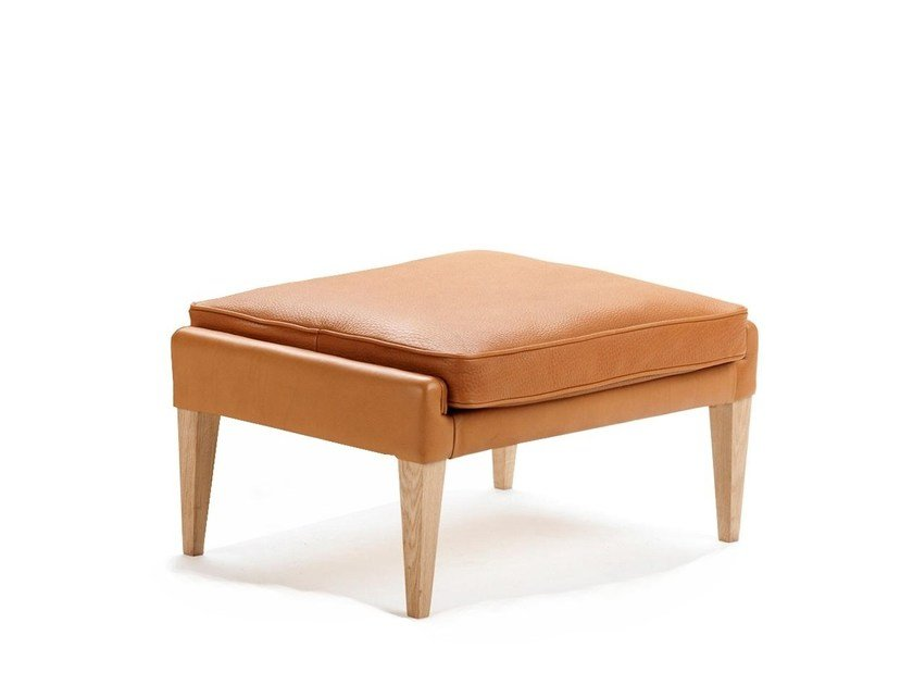 Leather footstool V11 | Leather footstool by Stouby