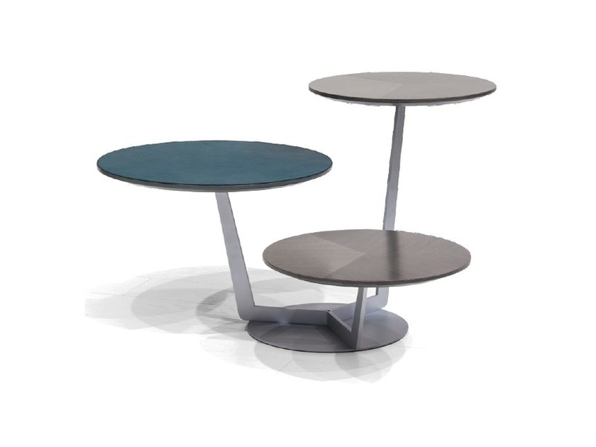 Tavolino alto con top in impiallacciato rovere e pelle V166 | Tavolino - Aston Martin by Formitalia Group