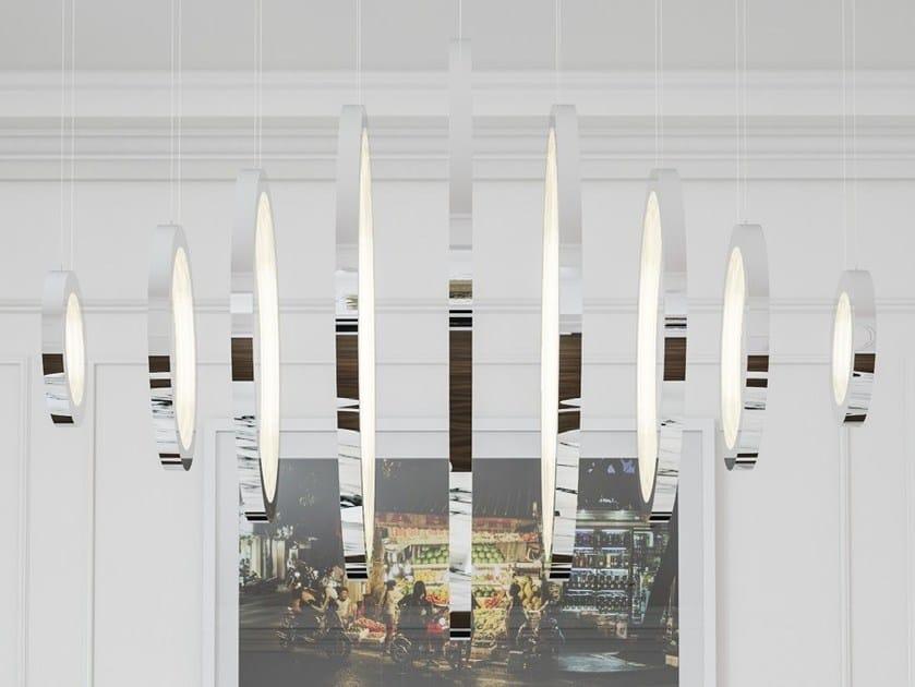 LED handmade metal pendant lamp VAASA by Cameron Design House