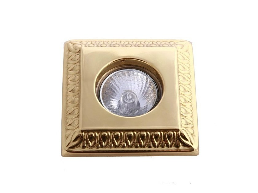 Ceiling recessed brass spotlight VADUZ DECORATIVE RECESSED SPOT LIGHT - Mullan Lighting