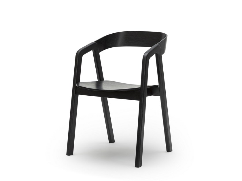 Open back wooden chair with armrests VALBY - Feelgood Designs