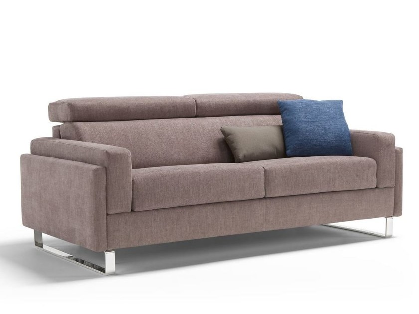 Fabric sofa bed with removable cover VALENCIA - Dienne Salotti