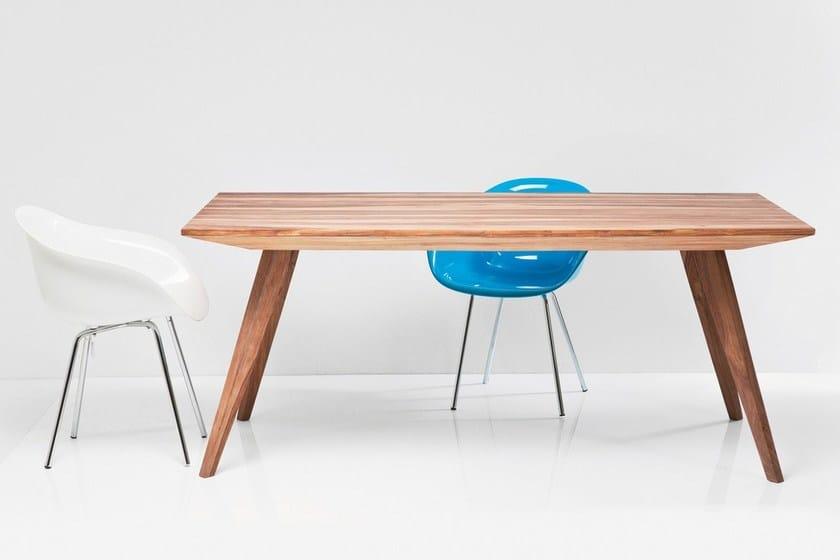 Rectangular wood veneer table VALENCIA | Table - KARE-DESIGN