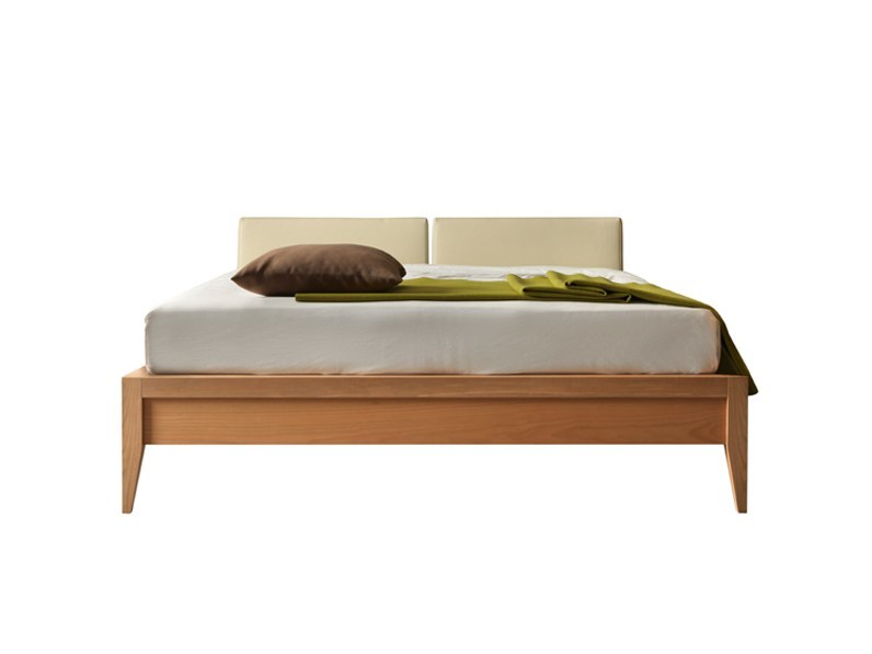 Double bed with upholstered headboard VALENTINO | Bed - Morelato