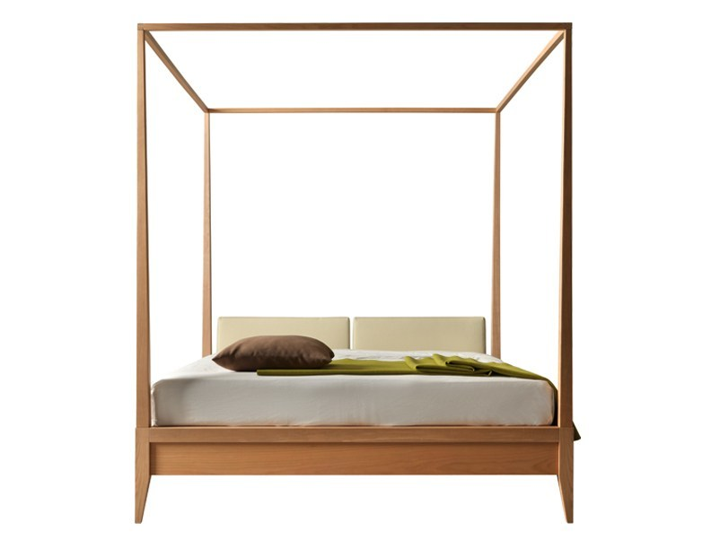 Double bed with upholstered headboard VALENTINO | Canopy bed - Morelato