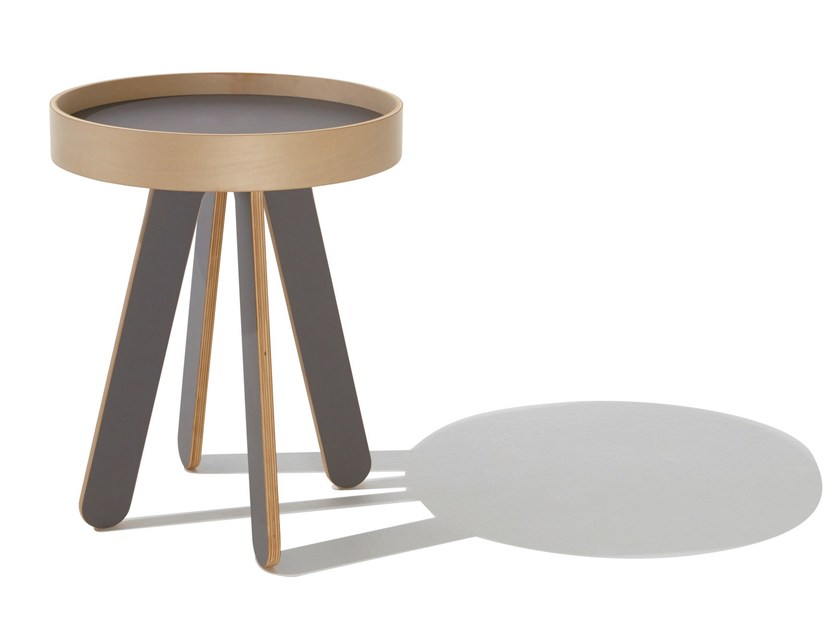 Round side table with tray VALET - Müller Möbelwerkstätten