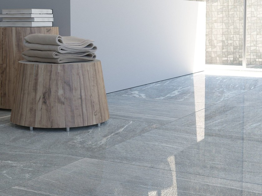 Porcelain stoneware wall/floor tiles with stone effect VALS by Herberia
