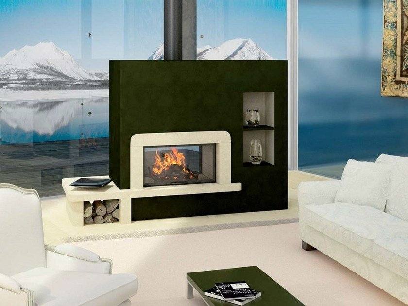 Stone Fireplace Mantel VANINA - Axis