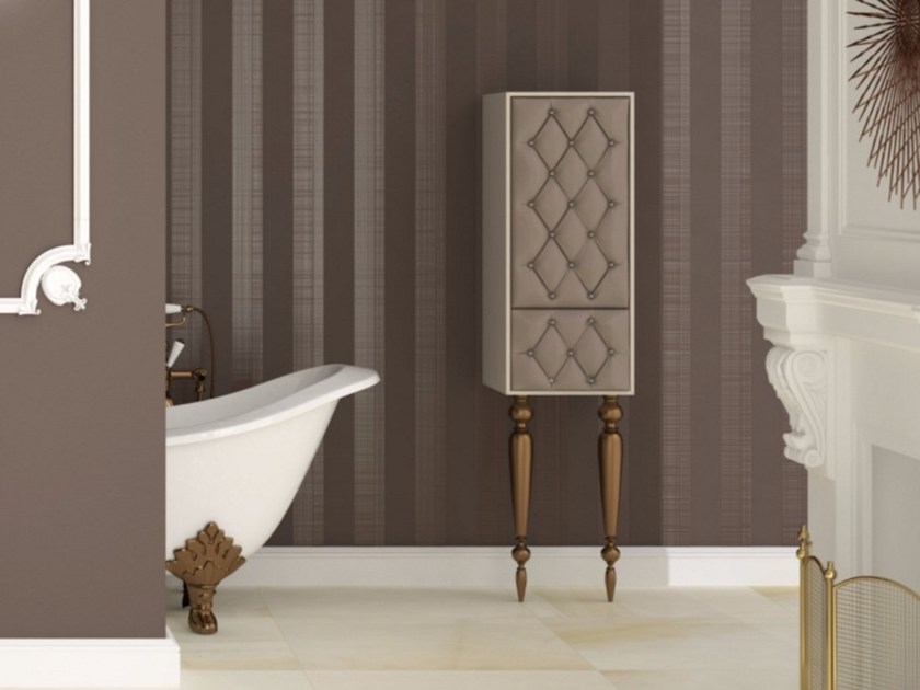 Tall bathroom cabinet with doors with drawers VANITY C01VA - LA BUSSOLA