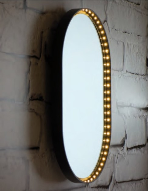 Wall lamp / mirror VANITY OVAL by Le Deun Luminaires