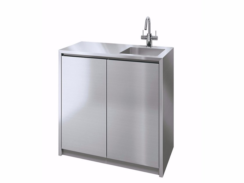 Metal kitchen unit with single sink VANO 900 - Sanwa Company