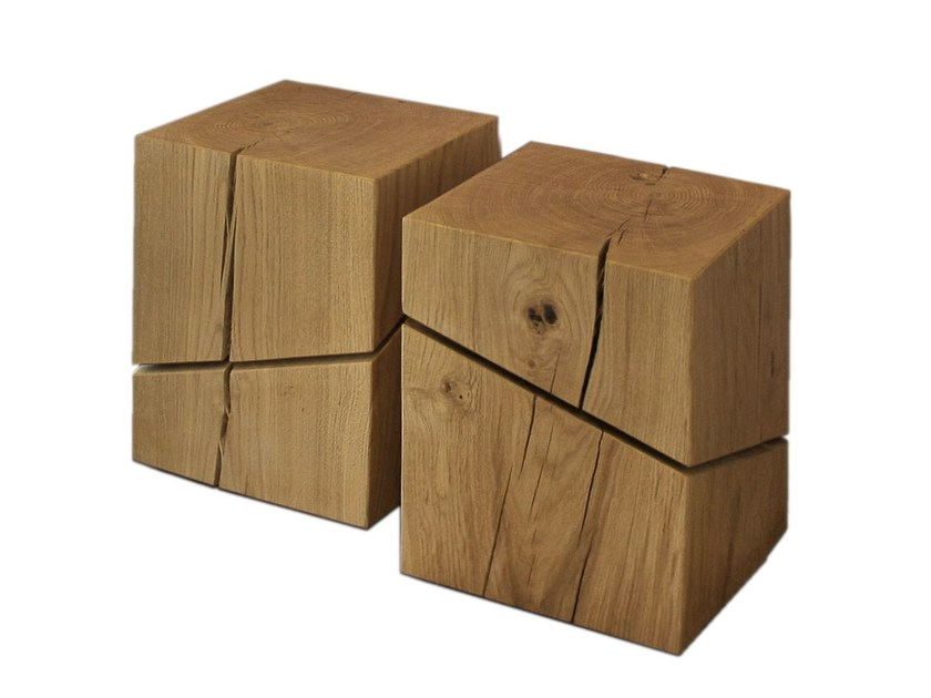 Solid wood stool / coffee table VARIO SMALL by Otono Design