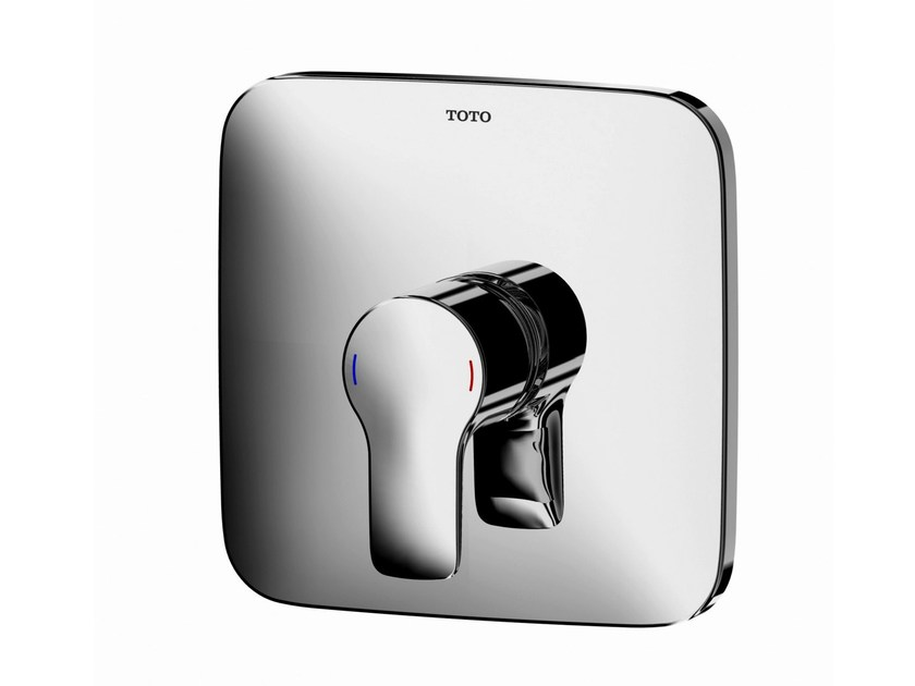 Chromed brass shower mixer with plate VB10055C | Shower mixer with plate - TOTO
