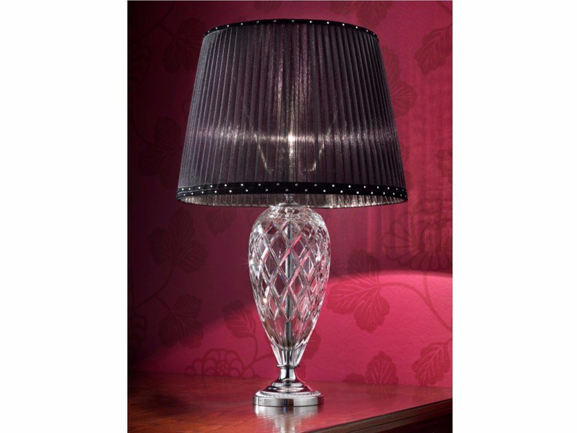 Direct light incandescent crystal table lamp VE 1026 | Table lamp by Masiero