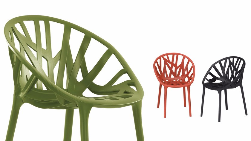 chaise empilable en plastique vegetal by vitra design ronan erwan bouroullec. Black Bedroom Furniture Sets. Home Design Ideas
