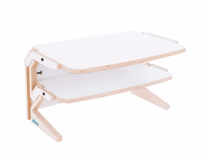 Low coffee table with integrated magazine rack VEGETALE SIDE TABLE - rform