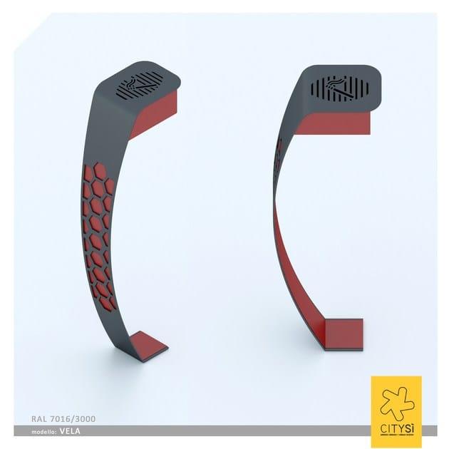 Standing steel ashtray VELA | Ashtray - CITYSì