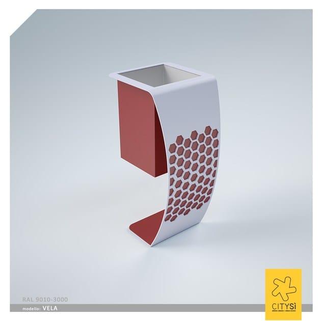 Portarifiuti in metallo per esterni VELA BIN   Portarifiuti - CITYSì