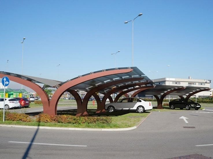 Steel porch for parking areas VELA by LAB23 Gibillero Design