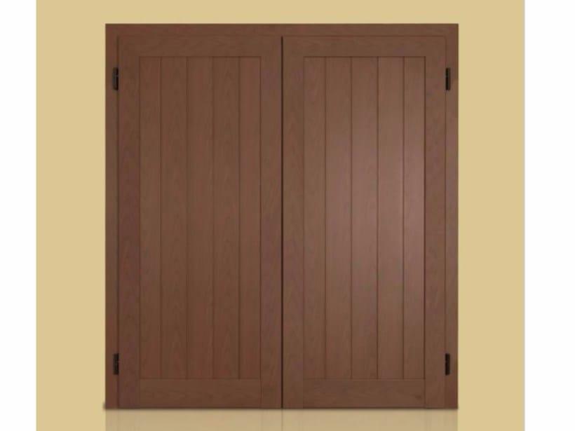 Wooden panel shutter VELA - Vertical Slats - Cos.Met. F.lli Rubolino