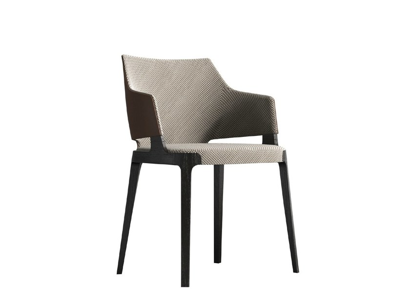 Fabric chair with armrests VELIS | Fabric chair - Potocco