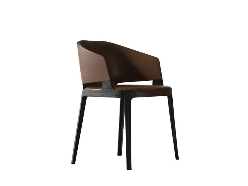 Leather chair with armrests VELIS | Leather chair by Potocco