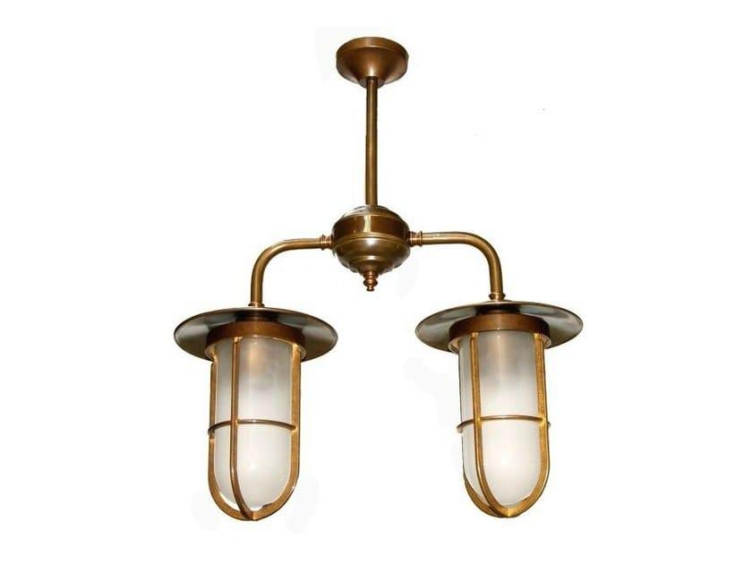 Direct light handmade pendant lamp VELLA DOUBLE WELL GLASS PENDANT - Mullan Lighting