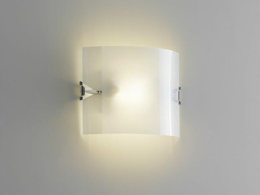 Halogen sandblasted glass wall light VELO | Wall light by FontanaArte