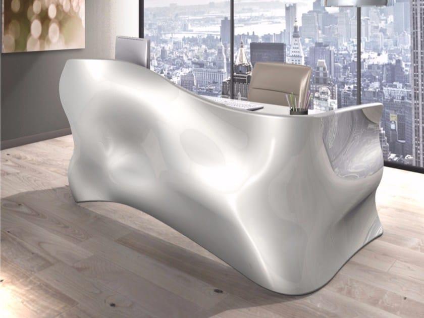 Lacquered Adamantx® executive desk VELO | Office desk - ZAD ITALY