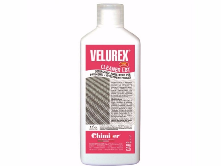 Surface cleaning product VELUREX CLEANER LBT by Chimiver Panseri