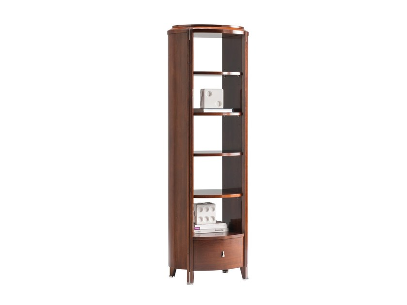 Wall-mounted wooden bookcase with drawers VENDÔME   Bookcase - SELVA