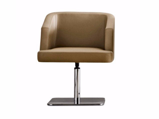Swivel fabric easy chair VENDOME | Swivel easy chair - Varaschin