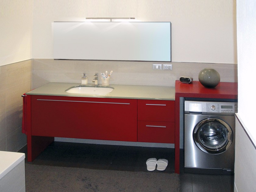 Lacquered vanity unit with drawers with mirror VENERE CM03V - LA BUSSOLA