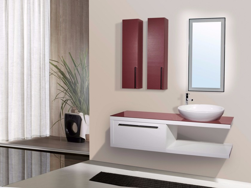 Vanity unit with doors with drawers with mirror VENERE CM08V - LA BUSSOLA